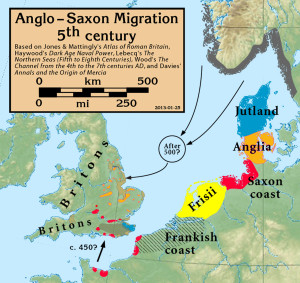 Migration of European tribes to Britain.