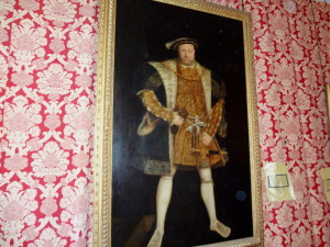 Picture of Henry VIII hanging in Hampton Court Palace.