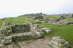 Old Roman fort along Hadrian's Wall.