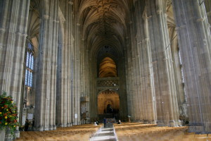 The view from inside Canterbury Cathedral