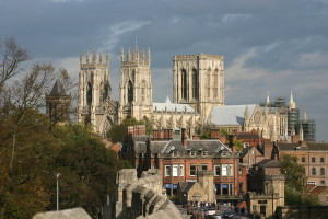 View from the wall of the York Minster