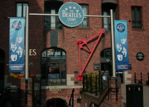 The entrance to the Beatle Museum in Liverpool